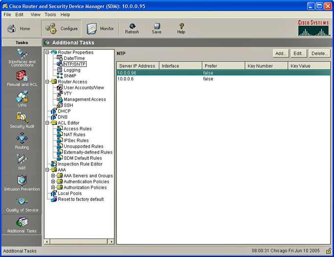 Cisco SDM v2.1