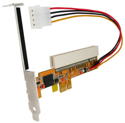 PCI Express X1 to PCI bus adapter card