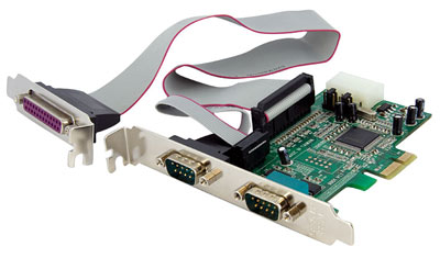 Pci express serial parallel ports card - Parallel port and serial port ...